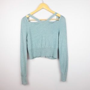 Anthropologie Sweaters - Anthropologie | Moth Cropped Cold Shoulder Sweater
